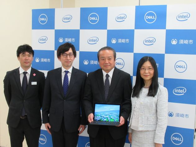 (写真左より)須崎市元気創造課の有澤聡明さん、インテル マーケティング本部