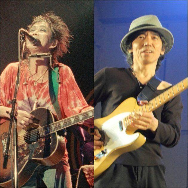 忌野清志郎(左)、仲井戸麗市(右)