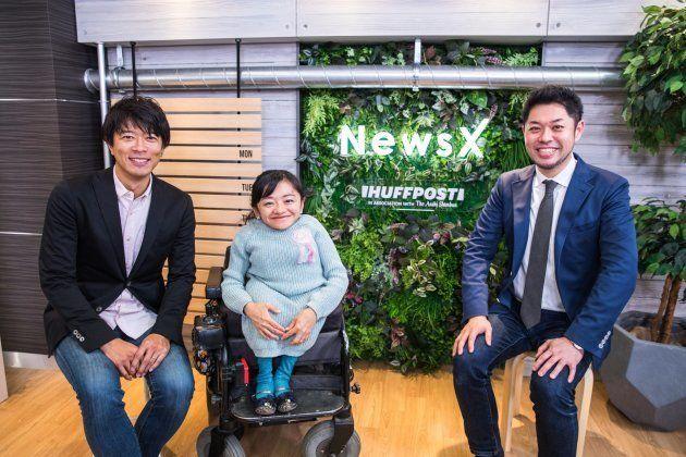 dTVチャンネルのネット番組「NewsX」に出演した伊是名夏子さん