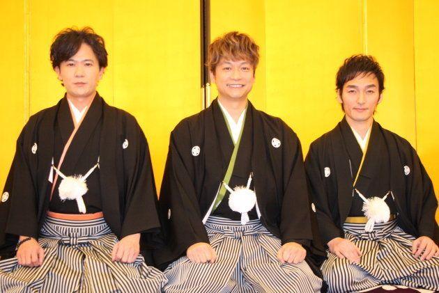 稲垣吾郎、草彅剛、香取慎吾が2018年の抱負語る
