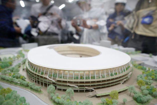 オリンピックメーン会場となる新国立競技場の模型