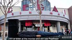 最後まで邪魔されずに映画を見たい人はPoptheatrのバケツを頭にかぶろう