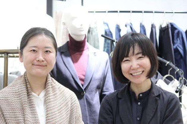 ファブリック部門を統括する田口ちひろさんと山口絵理子さん