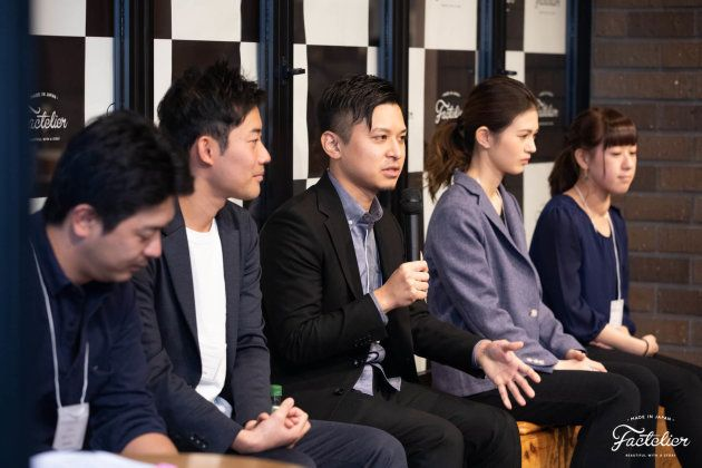 提携先の中から、新潟・大阪・東京・長野の工場で働く若者たちに集まってもらいました。