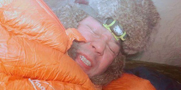 「-34℃の中でテント泊⛺️ 寒そうだって❓