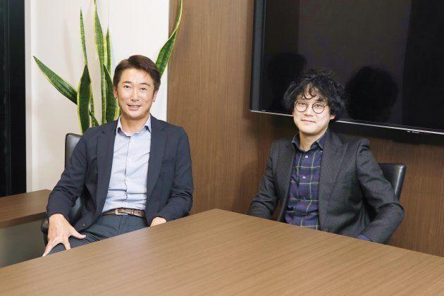 KDDIフィナンシャルサービス株式会社 代表取締役社長の石月貴史氏(左)と、記者、ノンフィクションライターとして活動する石戸