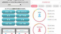 「相席屋」アプリのアップデートに注目 リアルタイムで来店人数や年代表示