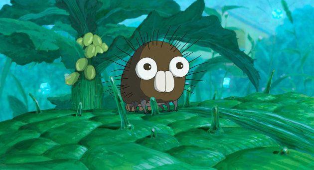 『毛虫のボロ』のワンシーン。見ているうちに、タモリさんにどことなく似ている気がしてきた。