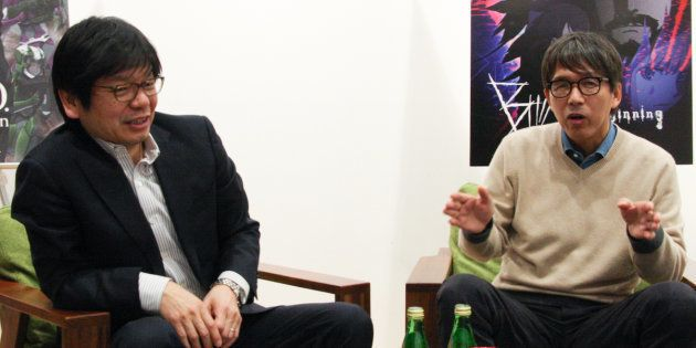 ボンズの南雅彦氏(左)、プロダクションI.Gの石川光久氏(右)