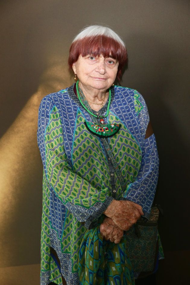 CANNES, FRANCE - MAY 23: Agnes Varda attends Kering Talks 'Women In Motion' At The 68th Annual Cannes...