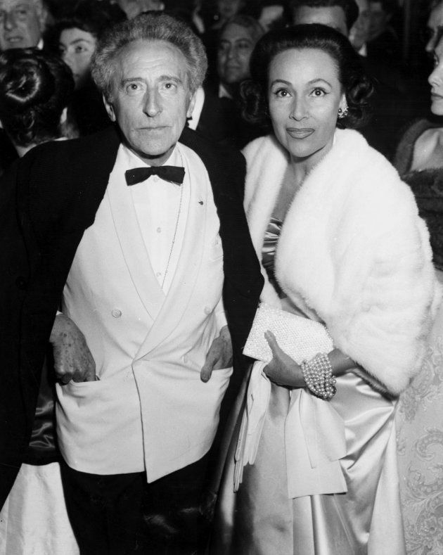 French poet and film maker Jean Cocteau (1889 - 1963) and Mexican actress Dolores Del Rio (1905 - 1983)...