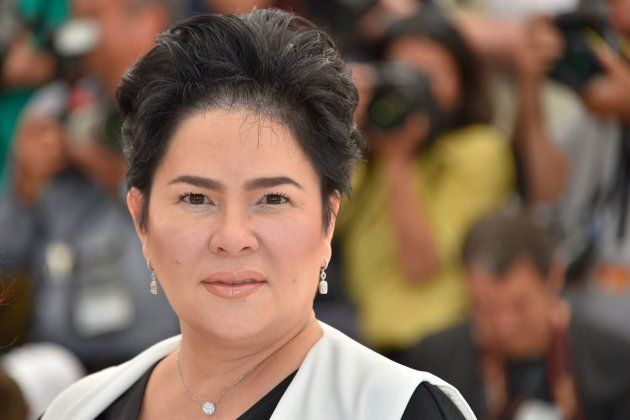 Filipino actress Jaclyn Jose poses on May 18, 2016 during a photocall for the film 'Ma'Rosa' at the 69th...