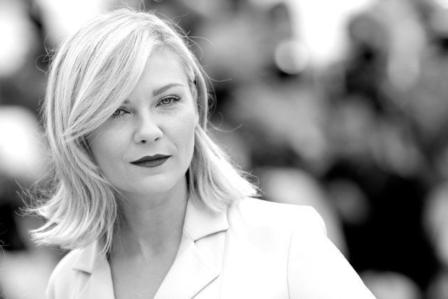 CANNES, FRANCE - MAY 11: (EDITORS NOTE: Image has been converted to black and white.) Kirsten Dunst attends...