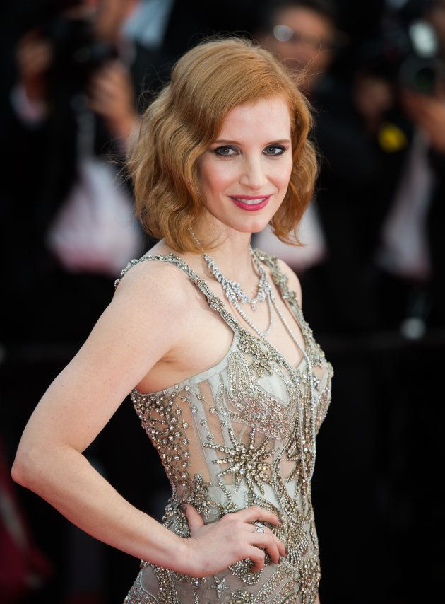 CANNES, FRANCE - MAY 12: Jessica Chastain attends the screening of