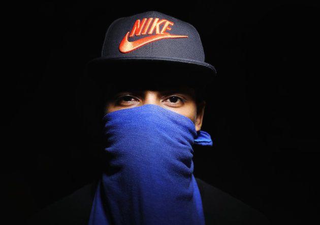 SAN PEDRO SULA, HONDURAS - AUGUST 17: Street gang member