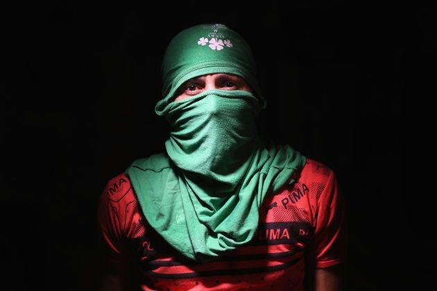 SAN PEDRO SULA, HONDURAS - AUGUST 17: Street gang leader