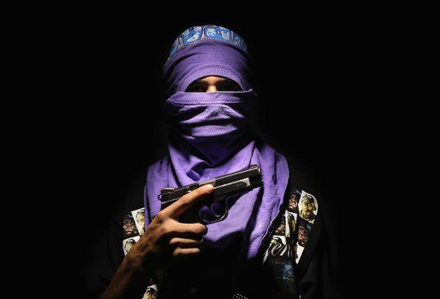 SAN PEDRO SULA, HONDURAS - AUGUST 19: Local Bario 18 gang leader