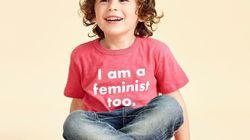男の子用のTシャツに「私もフェミニスト」
