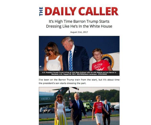 デイリー・コーラーが8月21日に掲載した記事。