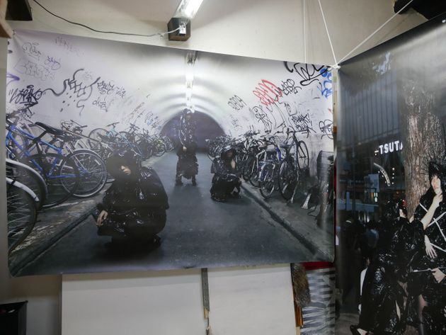 「明暗元年」会場のひとつ、デトロイトコーンクラブでの展示風景