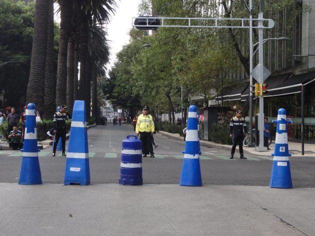 レフォルマ通りは完全封鎖