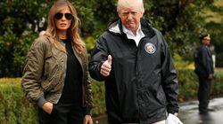 15センチヒールで被災地へ、トランプ大統領夫人に批判が殺到 テキサスの洪水被害で少なくとも22人が死亡