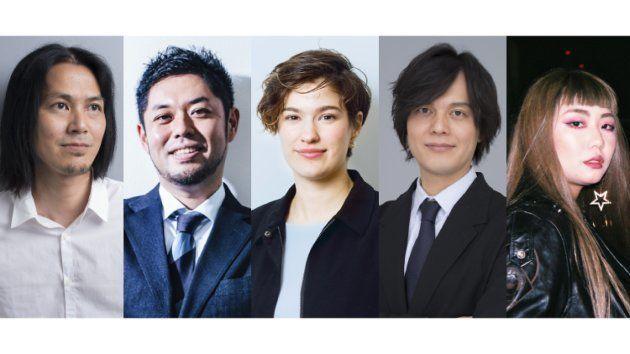 (左から)伏谷博之、竹下隆一郎、ローレン・ローズ・コーカー、齋藤貴弘、浅田奈穂(敬称略)