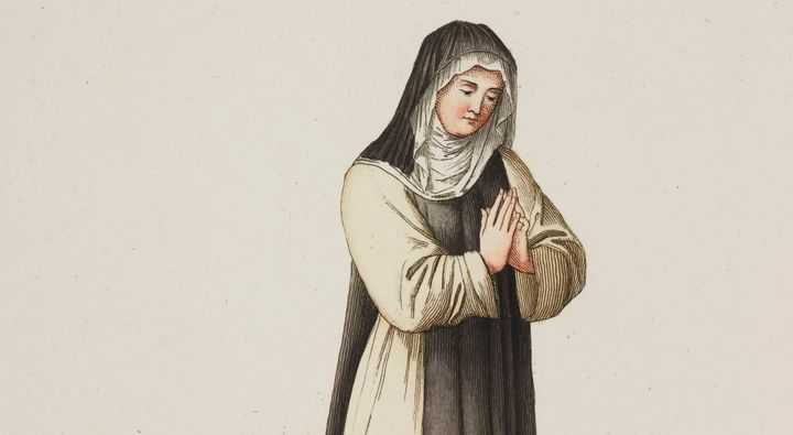 The 14th-century Dominican nun is depicted in this painting. Joan of Leeds was a Benedictine.