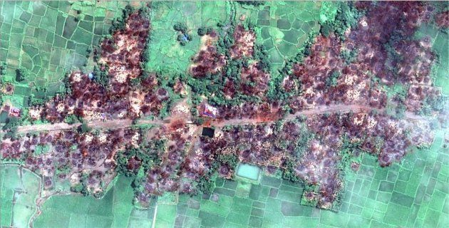 New satellite imagery obtained by Human Rights Watch shows the complete destruction of the village of...
