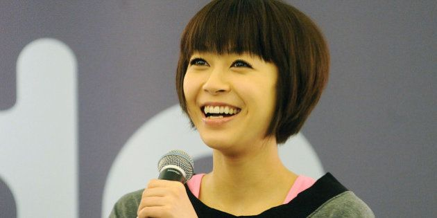 NEW YORK - MARCH 25: Singer Utada visits the Sephora store on Fifth Avenue on March 25, 2009 in New York...