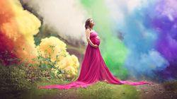 6回の流産を経験したママが、美しい虹色のマタニティ写真に込めた思い