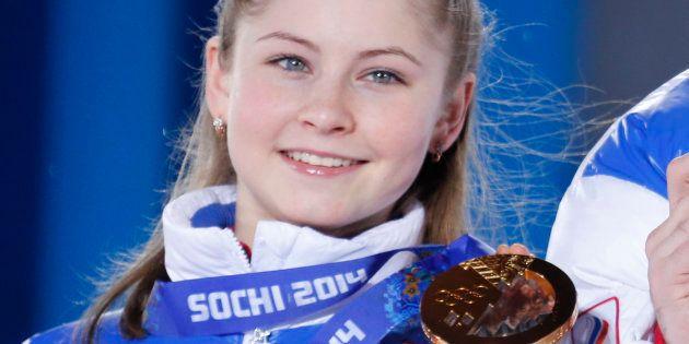 ソチ五輪で金メダルに輝いたリプニツカヤ選手=2014年2月