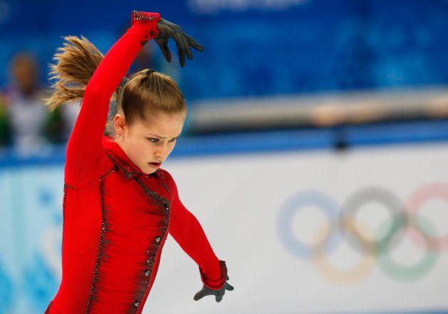 ソチ五輪で演技するリプニツカヤ選手=2014年2月
