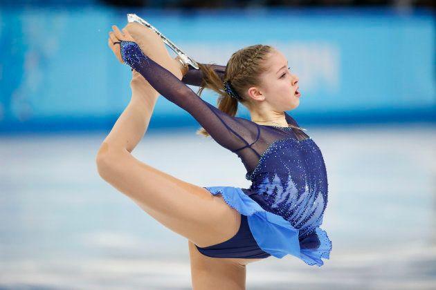 ソチ五輪で演技を披露するリプニツカヤ選手=2014年2月