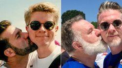 ゲイのカップルは、再びLGBTプライドでキスをした。24年間、2人の愛は変わらなかった。