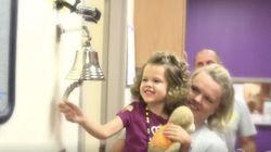がんの子どもたちが、「治療の終わり」を告げる鐘を鳴らすとき(動画)
