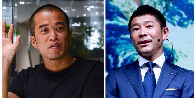田端信太郎さん(左)、前澤友作さん