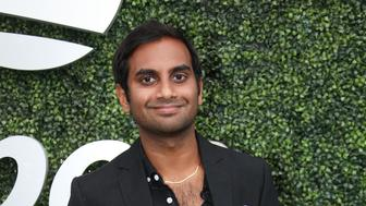 NEW YORK, NY - SEPTEMBER 1: Aziz Ansari attends day 6 of the 2018 tennis US Open on Arthur Ashe stadium at the USTA Billie Jean King National Tennis Center on September 1, 2018 in Flushing Meadows, Queens, New York City. (Photo by Jean Catuffe/GC Images)