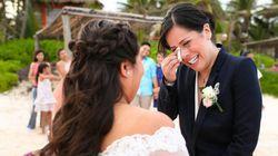 同性婚したカップル、喜びを伝える33枚の写真