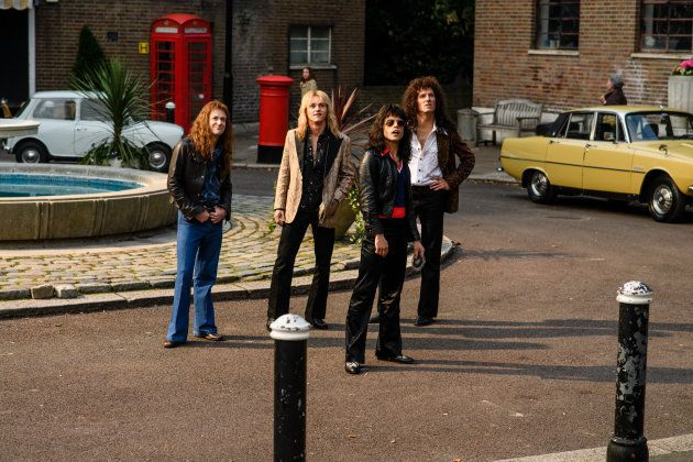 「ボヘミアン・ラプソディ」で、クイーンのメンバーがレコード会社を立ち去るシーン