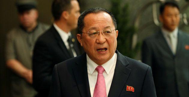 アメリカを非難する声明を発表した北朝鮮の李外相。