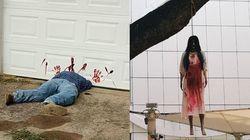 怖すぎるハロウィンの飾り、大騒動を巻き起こす