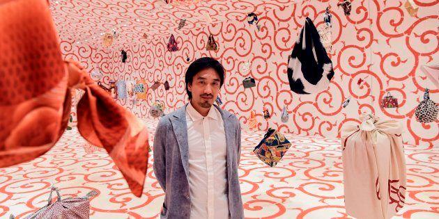 (写真はイメージ)フランス・パリで開催された風呂敷エキシビジョンを手がけた田根剛氏