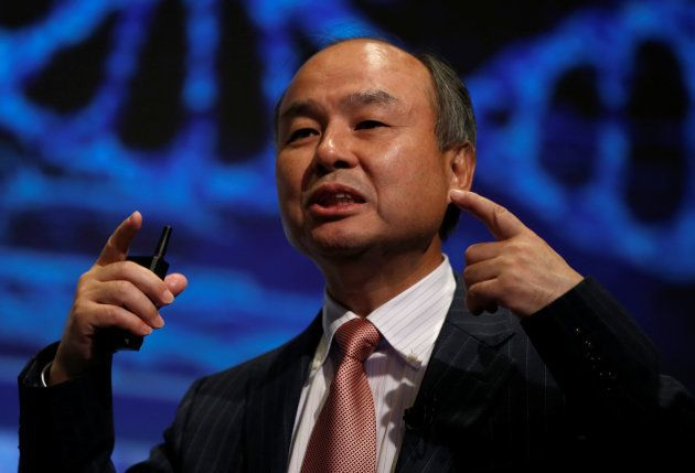 SoftBank Group Corp Chairman and CEO Masayoshi Son attends a news conference in Tokyo, Japan, February...