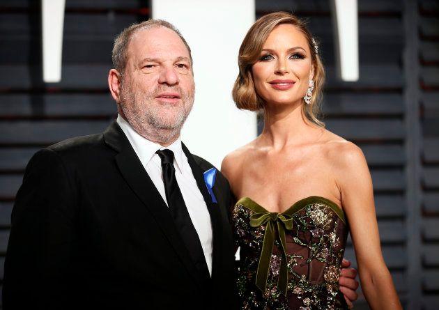 ハーヴェイ・ワインスタインと妻のジョージナ・チャップマン(2017年撮影)