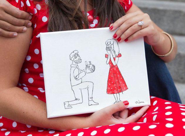 プロポーズのために、メトロポリタン美術館に自分の絵を飾った ⇒