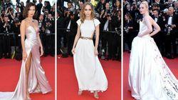 カンヌ映画祭開幕、ベラ・ハディッドやリリー・ローズら華やかなドレス姿(画像集)