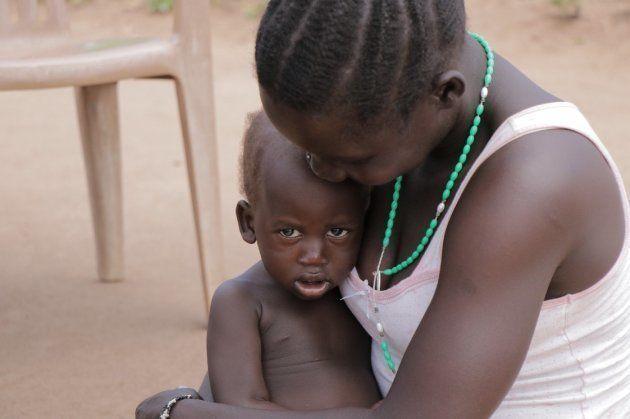 南スーダン難民から避難してきた子ども