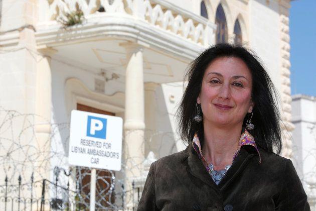 ダフネ・カルアナ・ガリチアさん(マルタの首都バレッタで2011年撮影)
