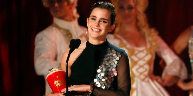 2017 MTV Movie and TV Awards - Show – Los Angeles, U.S., 07/05/2017 – Emma Watson accepts the Best Actor in a Movie award for